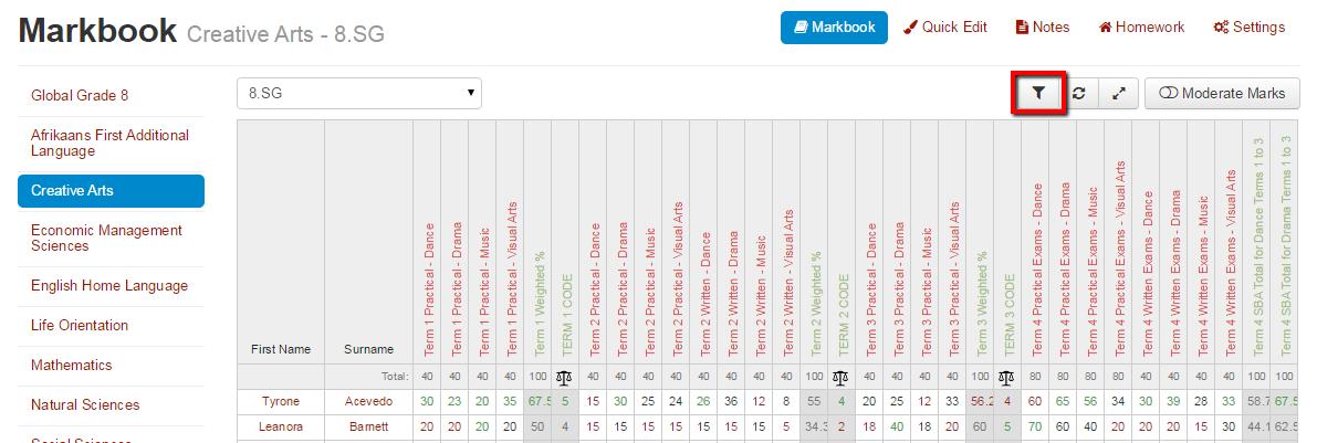 Markbook_Filtering_1